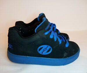 Heely's Straight Up Black Royal Blue Wheel Shoes Size Youth 2