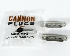 Lot of (3) ITT Cannon DBH-25P-101-11 D-Sub Connector 25 Pin Hermetic Steel