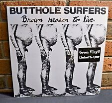 """BUTTHOLE SURFERS - Brown Reason to Live EP, Limited 12"""" GREEN VINYL New & Sealed"""