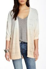 Wallpapher Dip Dye Cardigan Sweater Junior's Ivory Peach NWOT Size Pl