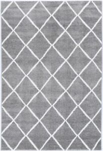 KIMBER RUG Diamond Grey Modern Floor Mat Carpet FREE DELIVERY*