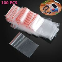 "100Pcs Ziplock Plastic Zipper Clear Bags 1.5""X 2"" Jewelry package mini #0"