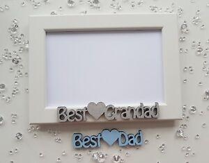 Christmas Birthday Photo Frame gift personalised Best Dad Daddy Grandad