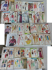 Large Mixed Lot of Vintage Sewing Patterns Women's SIMPLICITY Tops Dresses Skirt