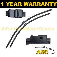 """DIRECT FIT FRONT AERO WIPER BLADES PAIR 24"""" + 19"""" FOR AUDI A3 2003-2004"""