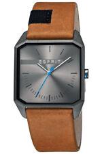 Esprit Men's Watch ES1G071L0025 Cube Mens Leather Brand Watch New