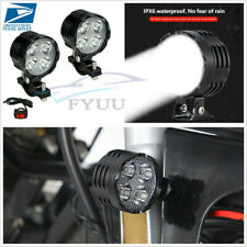 1 Pair 40W 3 Modes Motorcycle ATV LED Headlight Fog Lamps Spotlights&Switch Set