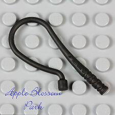 NEW Lego Minifig Horse VINE WHIP - Batman Black Long Bent Weapon Animal Tool
