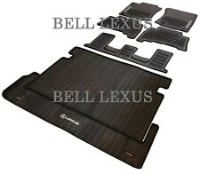 LEXUS OEM FACTORY COMPLETE ALL WEATHER FLOOR MAT SET 2014-2020 GX460 BLACK