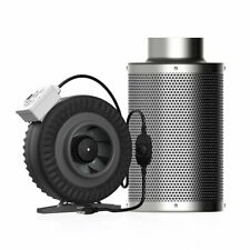 """VIVOHOME 4"""" In-line Duct Fan Blower Air Booster Carbon Filter & Speed Controller"""