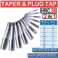 HSS Metric Taper &Plug Tap Set M3 to M20 Right Hand Thread Cutter Taps For Metal