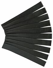 """Weaver Leather Rubber Dally Wraps - Black, 1"""" x 8-1/2"""", Pack of Ten"""