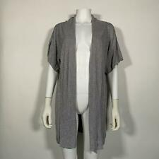 Vince Sweater open cardigan Linen Gray Short Sleeves Sz L NEW NWT