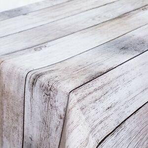 Tischdecke Wachstuch Wachstischdecke Rund-Eckig-Oval Holzoptik uni einfarbig