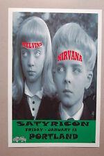 Nirvana &  Melvins Concert Tour Poster 1990 Satyricon Portland