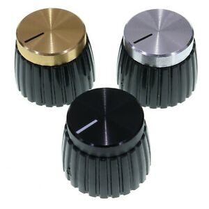 Replacement Marshall Style Amplifier Knobs - Gold Silver Black Amp Volume Dials