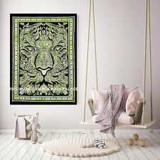 Indian Lion Face Poster Throw Meditation Yoga Mat Wall Hanging Cotton Tapestries