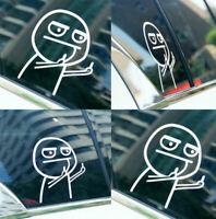 Weiß Stinkefinger Humor Meinung Mittelfinger Autoaufkleber Tuning Sticker Carton