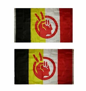 3X5 AIM American Indian Movement Flag 2 Sided Double Sided Banner USA SELLER
