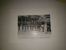 US All Star Hockey Team Picture Laurier Charest Allan Van  1939 Spalding Sheet