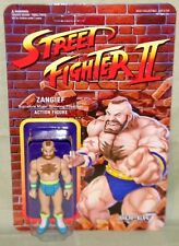 "BLUE ZANGIEF Street Fighter II Champion Variant ReAction Super7 3.75"" Figure"