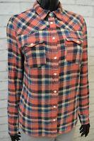 Camicia Donna Levi's Camicetta Taglia S Shirt Maglia Blusa Casacca Cotone Quadri
