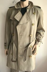 BURBERRY MENS XL LARGE 42-44 DOUBLE BREASTED TRENCH COAT RAINCOAT JACKET MAC