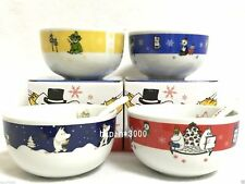 NEW! Moomin Soup Mug Cup & Spoon Set of 4 Sold at KFC Japan LTD 2016 VERY RARE!!