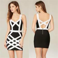 BEBE BLACK WHITE LARA COLOR BLOCK BANDAGE DRESS $89 NEW NWT SMALL S