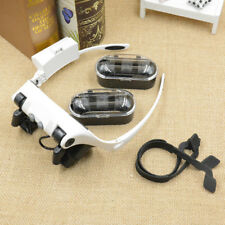 20X 10X 15X 25X LED Magnifier Eye Loupe Glasses Jeweler Watch Repair Headband