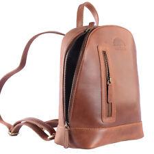 Wild Woods® Robuster echt Leder Rucksack aus Büffel Wildleder in Cognac