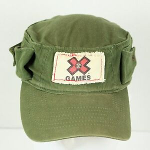 X GAMES - ESPN - FADED GREEN - YOUTH SIZE - CADET STYLE CAP HAT - LARGE
