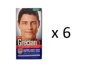 Grecian5 Permanent Shampoo-In Haircolor, Dark Brown (6 Pack)