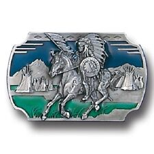 Galloping Chief Men's Old West Belt Buckle