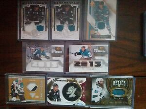 San Jose Sharks 8 card lot with pavelski #09/16, Burns, couture...