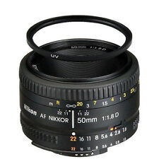 Nikon Normal AF Nikkor 50mm f/1.8D Autofocus Lens w/52mm UV Filter