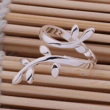 Beauty Plated Silver The Branch of Tree Ring Adjustable Gift
