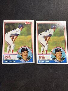 1983 Topps 498 Wade Boggs Rookie Card RC HOF  Lot of 2