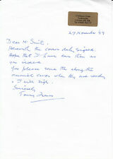 Letter Personally Signed by F M Thomas 152  Sqn Battle of Britain.