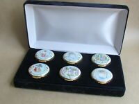 CRUMMLES FOR ROYAL DOULTON BEATRIX POTTER 1992 SET OF 6 ENAMEL BOXES (Ref4822)