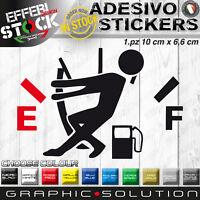 Adesivo Sticker Pegatinas FUEL EMPTY riserva benzina gasoline cuscrotto AUTO CAR