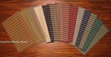 Dunroven House 14 Colors Primitive Homespun Ticking Fabric  Fat Quarter Bundle