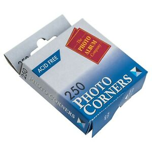 250 - 1000 Clear Photo Corners And Adhesive Squares Acid Free Fast Dispatch FREE