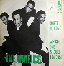 "THE UNIFICS COURT OF LOVE 7"" RARE PROMO PS  ITALY 1968 NORTHERNSOUL 45 RPM"