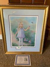 Lynn Lupetti ~TRUST~ S/N Limited Edition RARE~Girl Hummingbird Fairies W/COA