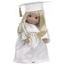 New Precious Moments Vinyl Doll Graduation Gown White Costume Blonde School Girl
