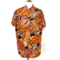 Escada Margaretha Ley Silk Blouse Size 40 Multi-Color Cap Sleeve