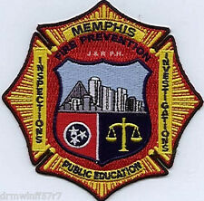 "Arson - Memphis - Fire Prevention / Investigation, TN  (4"" x 4"" size) fire patch"