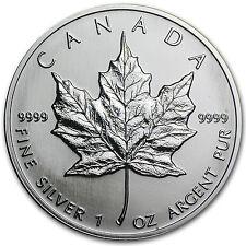 1991 Canada 1 oz Silver Maple Leaf BU - SKU #11054