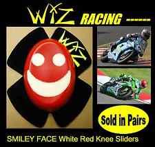 WIZ KNEE SLIDERS SMILEY FACE WHITE-RED